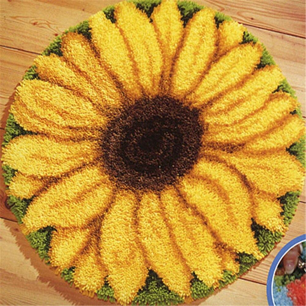 Acheter Gratuite Loquet Crochet de tournesol Kit Tapis Coussin Oreiller Tapis BRICOLAGE Artisanat Tournesol 52 CM par 52 CM Crochet Tapis Broderie de embroidery crochet fiable fournisseurs