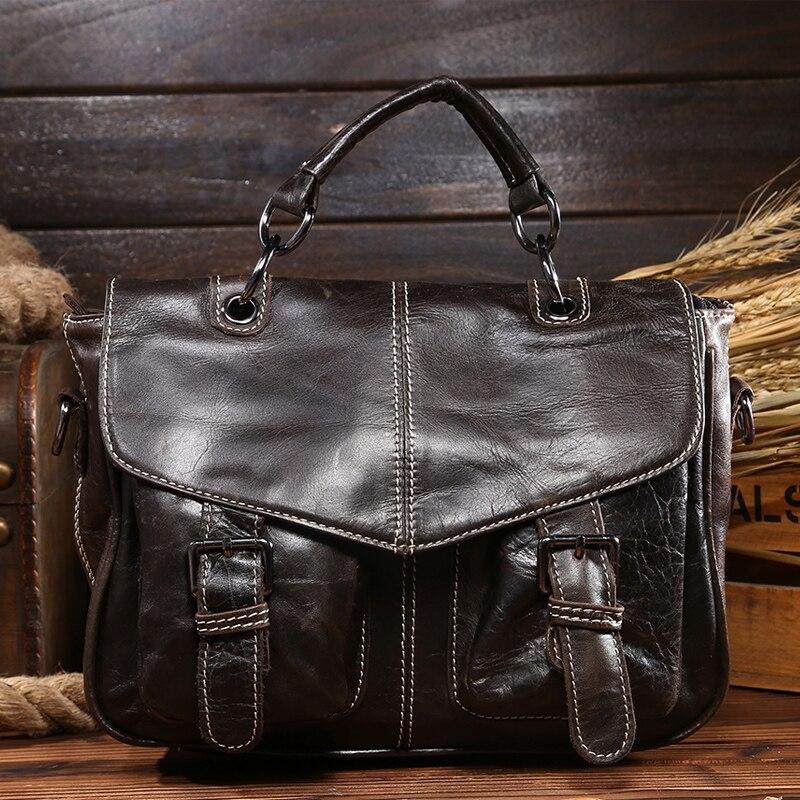 D1087,Men messenger bags, Crazy horse Cowhide Leather bags, Briefcase, Handbag, Attache Briefcase 14'' Laptop Bags,6938 vintage brown 100% crazy horse leather men messenger bags laptop cowhide leather men s briefcase portfolio travel bags md j7028
