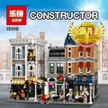 Lepin 15019 4002pcs MOC Creative Creator Series The Assembly Square Set Building Blocks Bricks Toys Small piece block 10255
