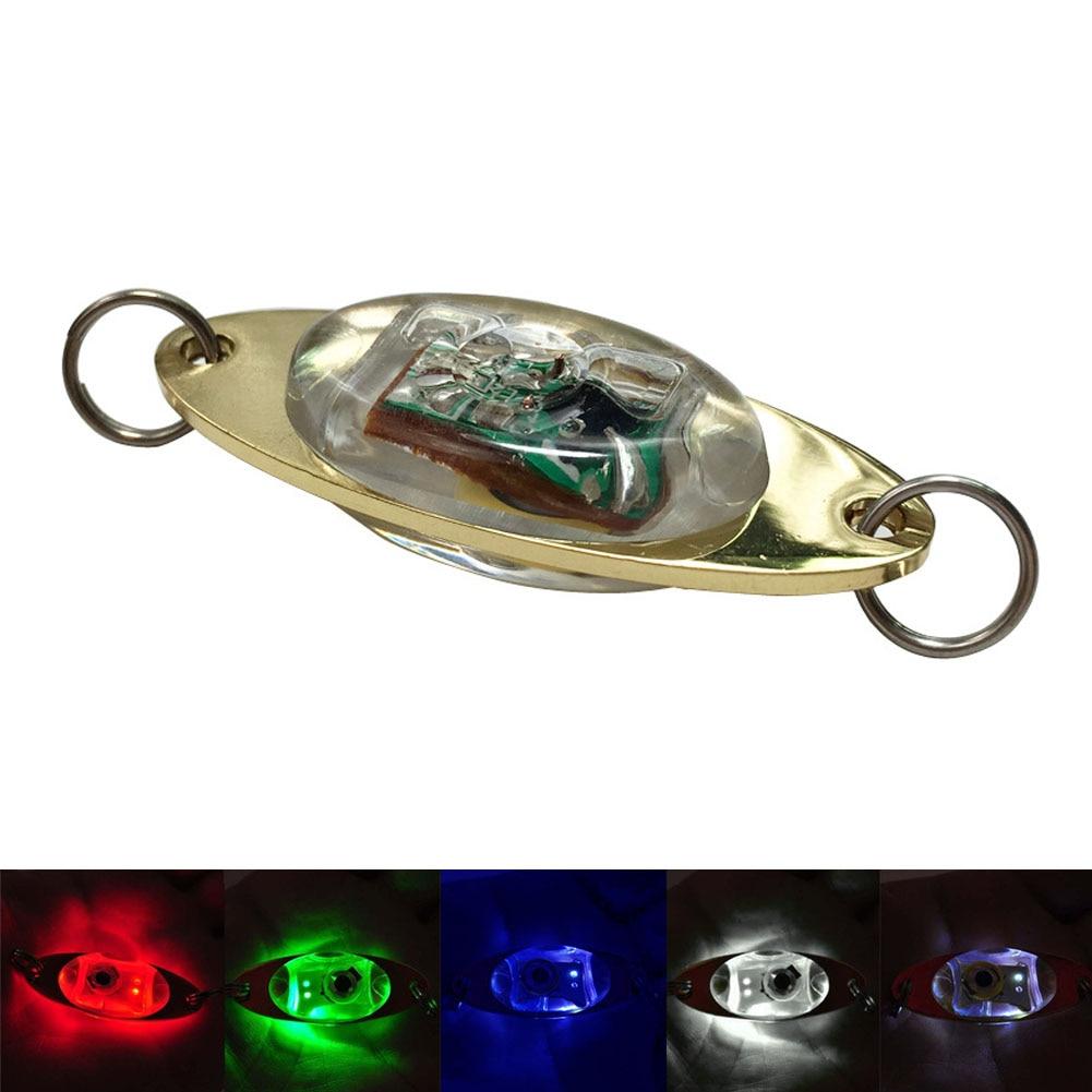LED Light Bait Fishing Lure Deep Drop Underwater Flashing Lamp Metal Light Bait ALS88