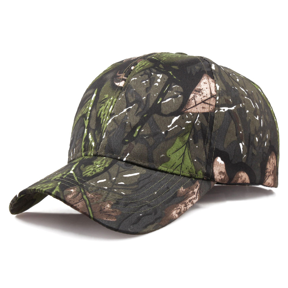 Camouflage Hunting Caps Casual Summer Beach Baseball Cap Outdoor Sport Snapback Hiking Hat Tactical Military Camo Cap For Men in Hunting Caps from Sports Entertainment
