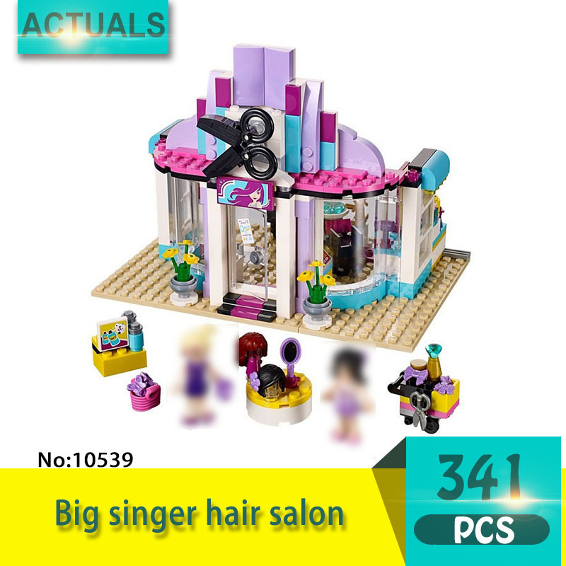 bela 10539 341Pcs Friends series Big singer hair salon Model Building Blocks Set  Bricks Toys For Children  Gift Girl toy футболка с полной запечаткой printio watch dogs 2 arsb