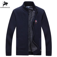 Sweater Men 2018 Autumn Winter New Arrival Embroidery Zip Cardigan Men's Sweater Fashion Stand Collar Sweaters For Men