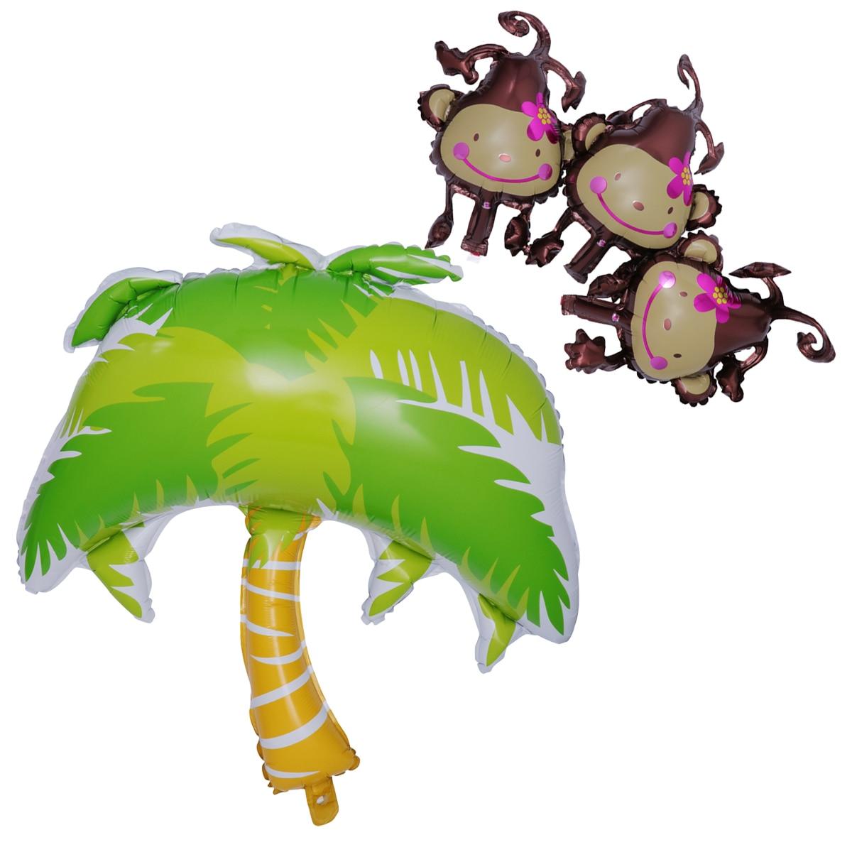 nicexmas 4pcs coconut tree hanging monkey balloon aluminum foil rh aliexpress com