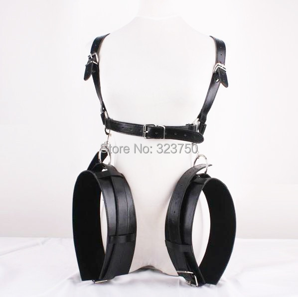 M Style Open Legs Thigh Sling Cuffs PU Leather Bondage Restraint Straps Fetish Cosplay Adult Sex Toys Sex Game Toy For Couples smpade latest special design over the door restraint jam cuffs body bondage kinky couple sexy fun play adult cosplay