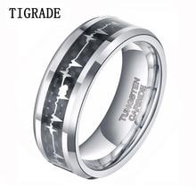 $5/Piece Women Men Ring Tungsten Carbide Engagement Ring Black Carbon Fiber  Wedding Band Jewelry все цены