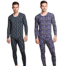 Новое Прибытие Осень-весна стиль плюс размер 7XL 8XL 9XL Мягкая Печати Кальсоны устанавливает Мужчины пижамы костюмы