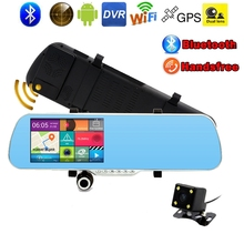 5.0 inch Android Rearview Mirror Car Camera Bluetooth Radar Detector Car DVR GPS Navigation Wifi Video Record Full HD 1080P