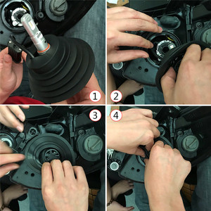 Image 5 - Flintzen Kit de joints universels de phare au xénon HID LED, housse antipoussière pour voiture et moto, lampe H1 H3 H4 H7 H11