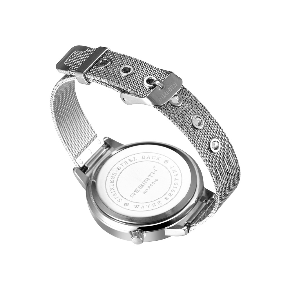 REBIRTH Mode Dameshorloge Luxe Legering Armband Dameshorloge Casual - Dameshorloges - Foto 3