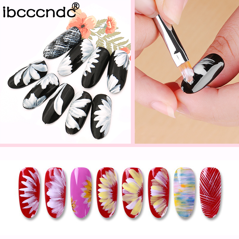 1pc Professional Nail Art Design Brush Pens DIY Petals Nail Brushes ...