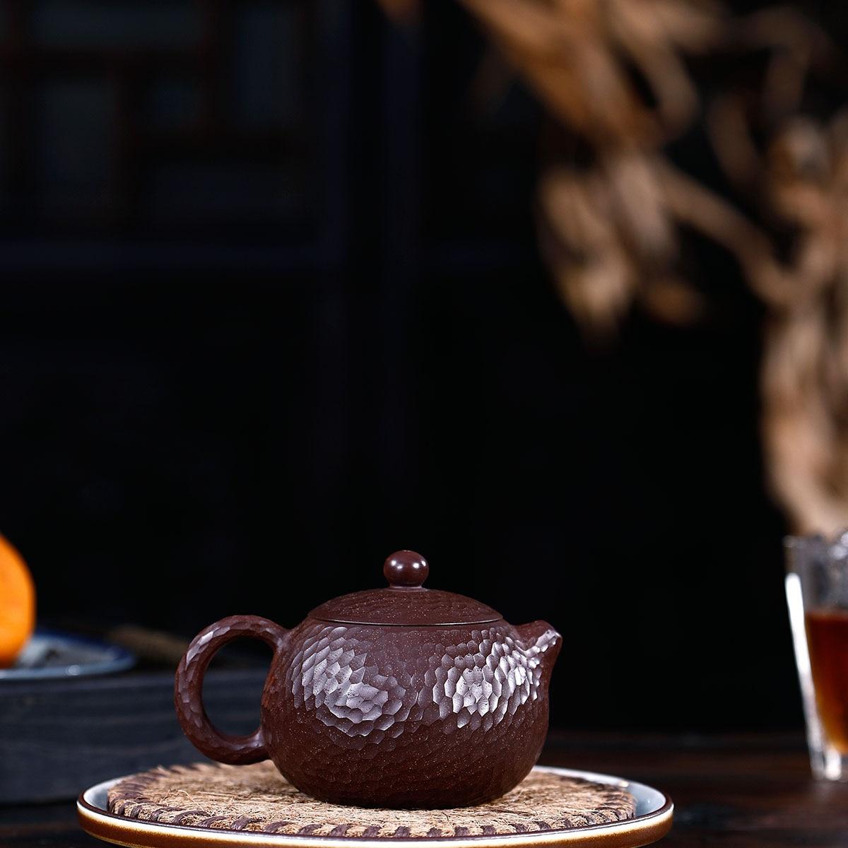 Modèle manuel de marteau de minerai brut de boue pourpre et rouge Xi Shi bouilloire Kungfu théière en ligne ensemble de thé Infusion domestique de costume de thé - 2