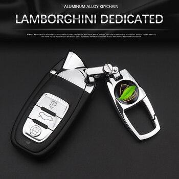 Dedicated to Lamborghini key chain badge logo logo keychain metal Lamborghini logo key ring auto parts