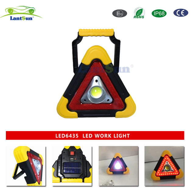 US $15 95 |new products multi function triangle light triangle warning  light car accessories offroad auto products ABS LED6435 Lantsun-in Car  Light