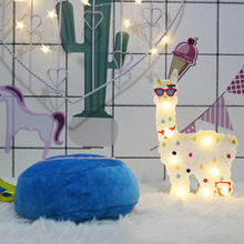 kids Gift Decorative Hanging Children LED night Light Alpaca Shape Cute Battery Powered Bedside light baby led lamp