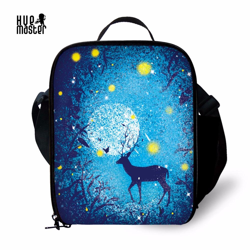 Kids Lunch Bag Pattern Printing Insulated Lunch Bags Portable Food Thermal Bag Adjuestable Shoulder Strap Lunch Bags for Women