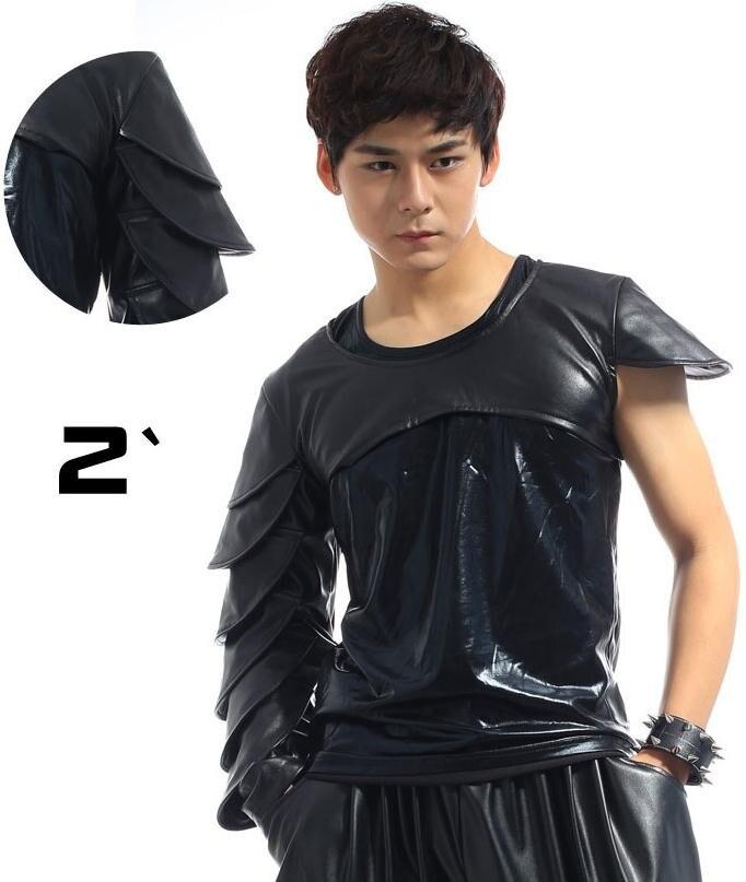 Черная сцена 1 рок мужские кожаные футболки Мода Футболка Мужская camisetas masculinas Мужская одежда 2XL настраиваемая