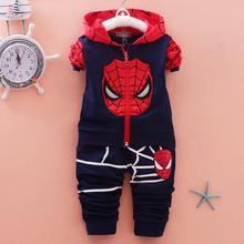 купить Spiderman Boys Clothing Sets Print Cartoon Jacket + Pants Cotton Sport Suit Children 2pcs Kids Baby Tracksuit Clothes онлайн