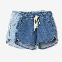 2017 Summer New Arrival Women Lace Cheap Jean Shorts Cotton Casual Shorts Jeans High Waist Slim Denim Shorts Hot C001
