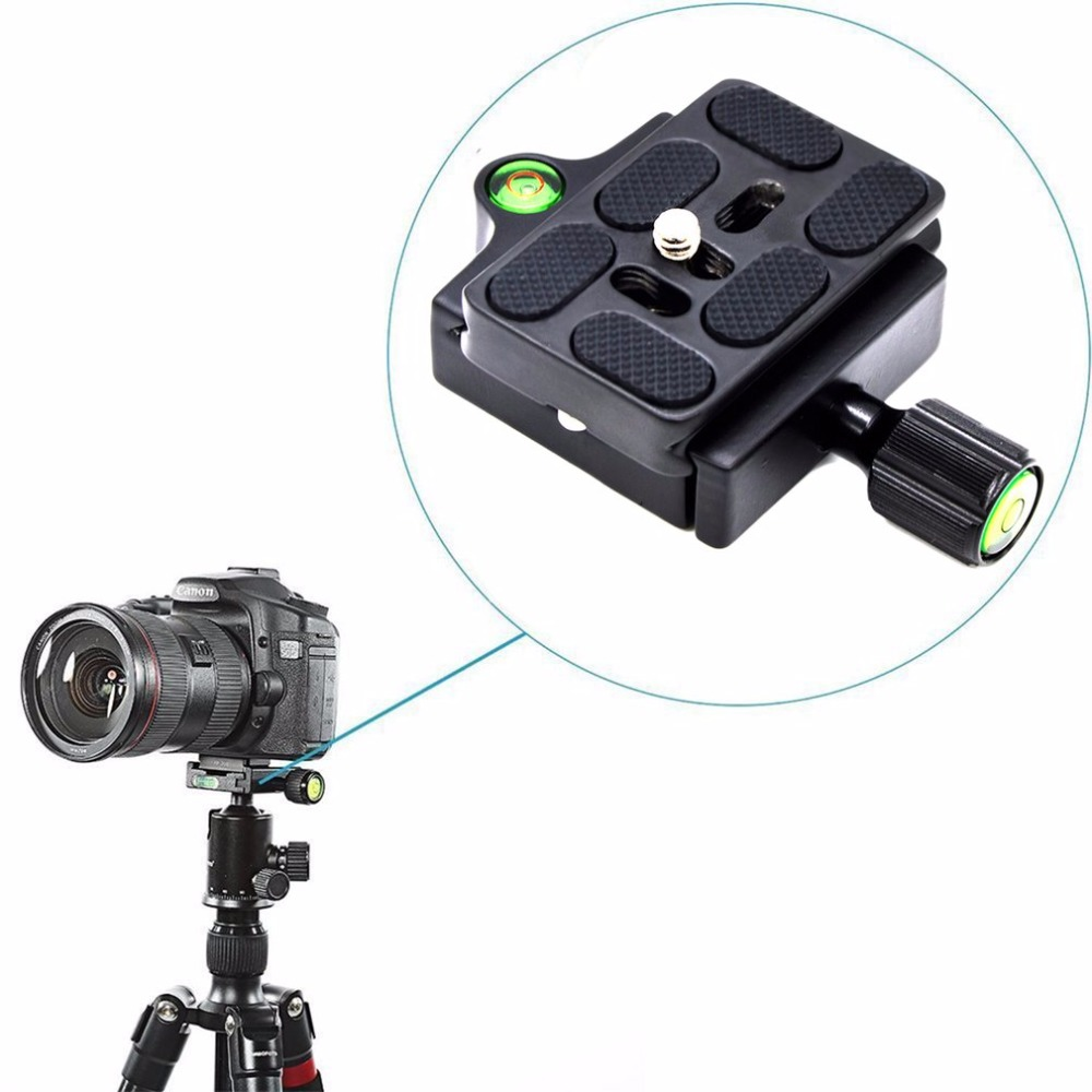 Professional KZ-20 Camera Tripod Monopod Quick Release Clamp Adapter Aluminum Quick Release Plate Camera Accessories