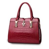 100%Genuine leather Women handbags 2017 new light leather bag female crocodile high-grade shoulder bags of western style bag sac