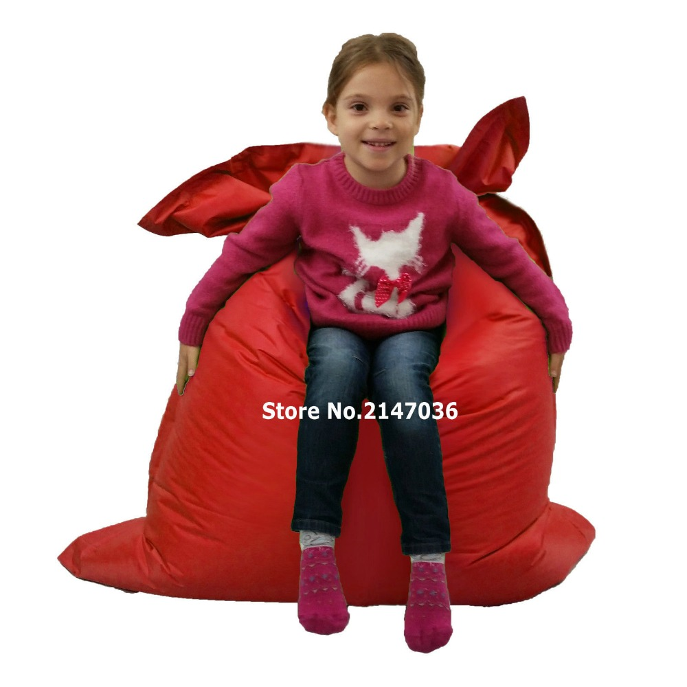 red outdoor Junior bean bag chair brown waterproof outdoor children junior bean bag chair