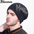 [Dexing]WYBEADS Winter Hat Men Letters Wool Hats Outdoor Cashmere Knit Hats for Men Ski Caps Ear Protect Casual Cap Wholesale