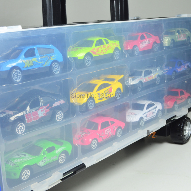 Free shipping large truck storage box collection of merchandise truck with 12 alloy cars toy car-in Diecasts u0026 Toy Vehicles from Toys u0026 Hobbies on ... & Free shipping large truck storage box collection of merchandise ...