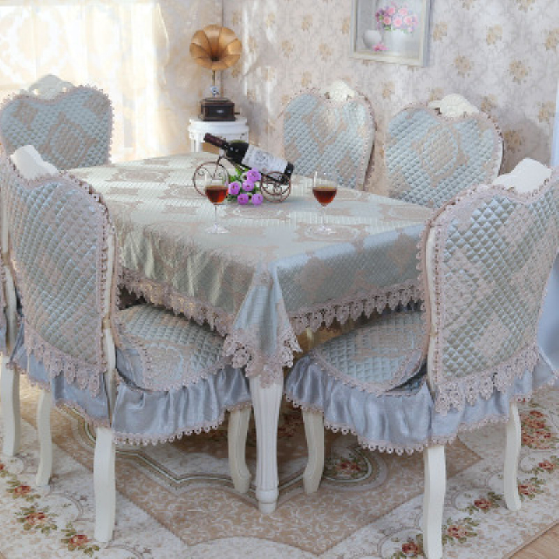 Classical Quilted Dining Table Cloth Thick Warm Chair