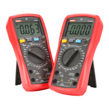 Uni t multímetro digital ut890c ut890d + 6000, contagens, manual de frequência, temperatura, amperímetro, ac dc dmm, testador de capacitor ncv