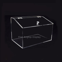Clear Transparent Acrylic Display Bin Jewelry Bread Food Retail Container Box