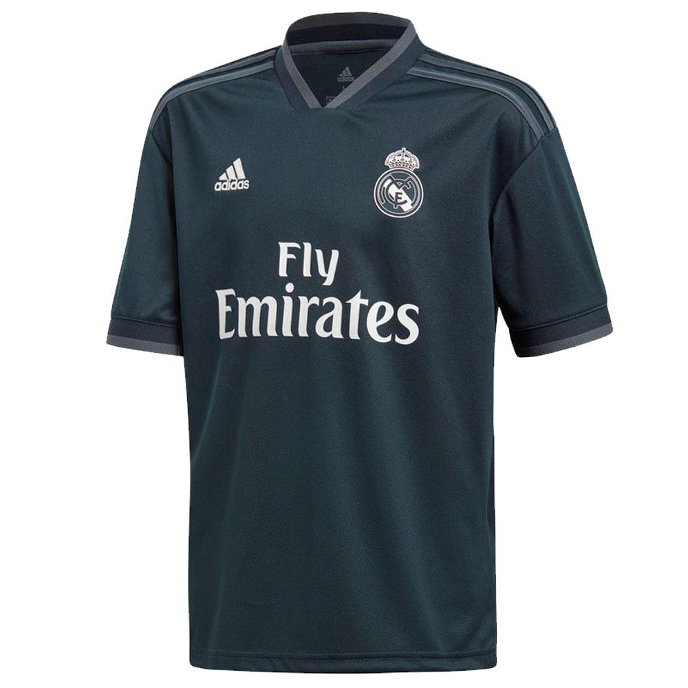 Real madrid 2018 2019 Boy Adidas-black polyester Football Shirt-soccer jerseys, REAL MADRID SHIRT