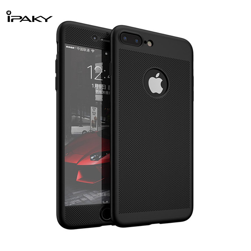 IPAKY Brand New Hybrid 360 Degree Full Protection Hot Summer Air Cool Tough Mobile Phone PC Armor Case For Apple iPhone 7 Plus