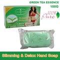 100% pura esencia de té verde pierde pérdida de peso adelgazar y desintoxicación jabón de cuerpo quemar grasa eficaz crema delgado mejor socio producto 100 g