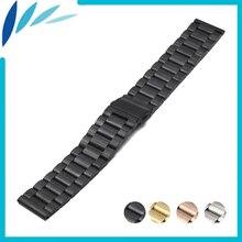 Montre En Acier inoxydable Bande 22mm pour Vecteur Luna/Méridien Boucle Déployante Bracelet Libération Rapide Boucle Ceinture Bracelet Noir argent