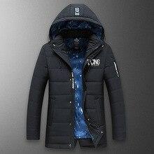 ZHAN DI JI PU Брендовая одежда мужская зимняя куртка теплое Стеганое пальто Повседневная парка 145