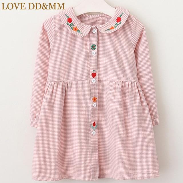 0e8e820c6 LOVE DD MM Girls Dresses 2019 New Children s Clothing Lattice Long ...