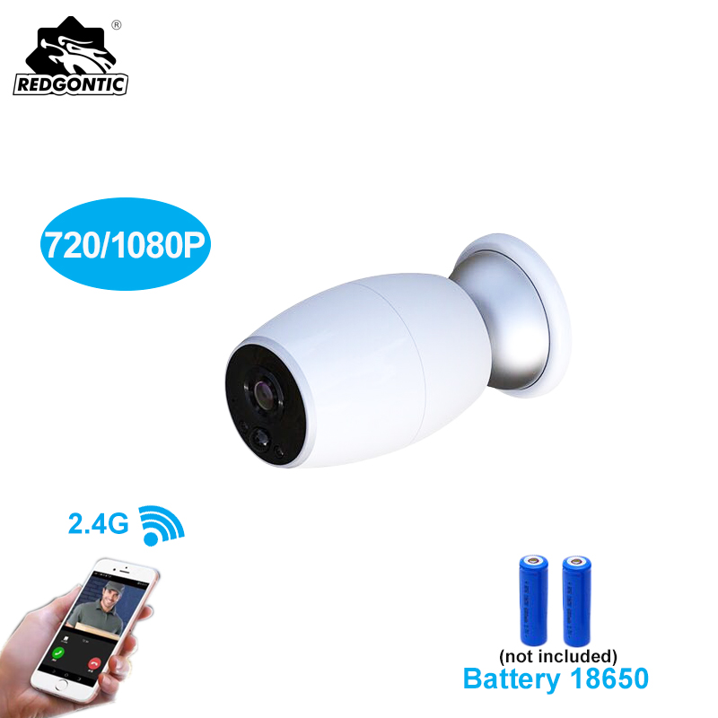 Caméra IP sans fil alimentée par batterie sans fil WiFi batterie Rechargeable Vision nocturne 1080 P caméra CCTV étanche moniteur bébé