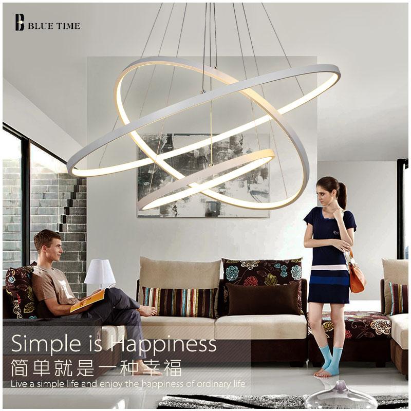 Moderne Ledet Aluminium Lysekrone LED Hanging Suspension Armatur - Indendørs belysning