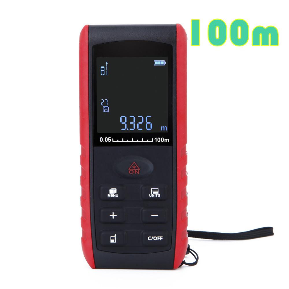Digital 100m Laser rangefinder Handheld laser Distance Meter Range Finder Area Volume Measurement with Angle Indication handheld laser distance 40 60 80 100m meter range finder area volume measure angle indication high precision laser rangefinder