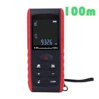Digital 100m Laser Rangefinder Handheld Laser Distance Meter Range Finder Area Volume Measurement With Angle Indication