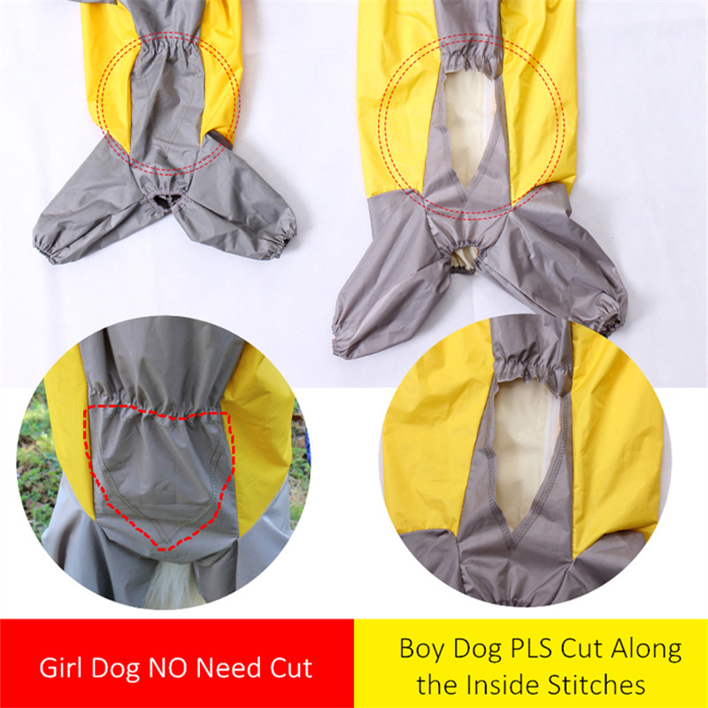 Waterproof Dog Raincoat With Different Size