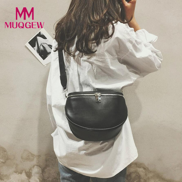 Bags for Women 2018 Women Pure Color Pattern Leather Shell Chest Bags Fanny Pack Sac Taille Ceinture Femmes Waist Bag Phone