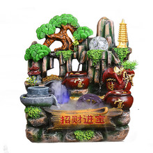 Artificial mountain bonsai resin fish the fountain wind water polo home decoration office living room, opening of a gift