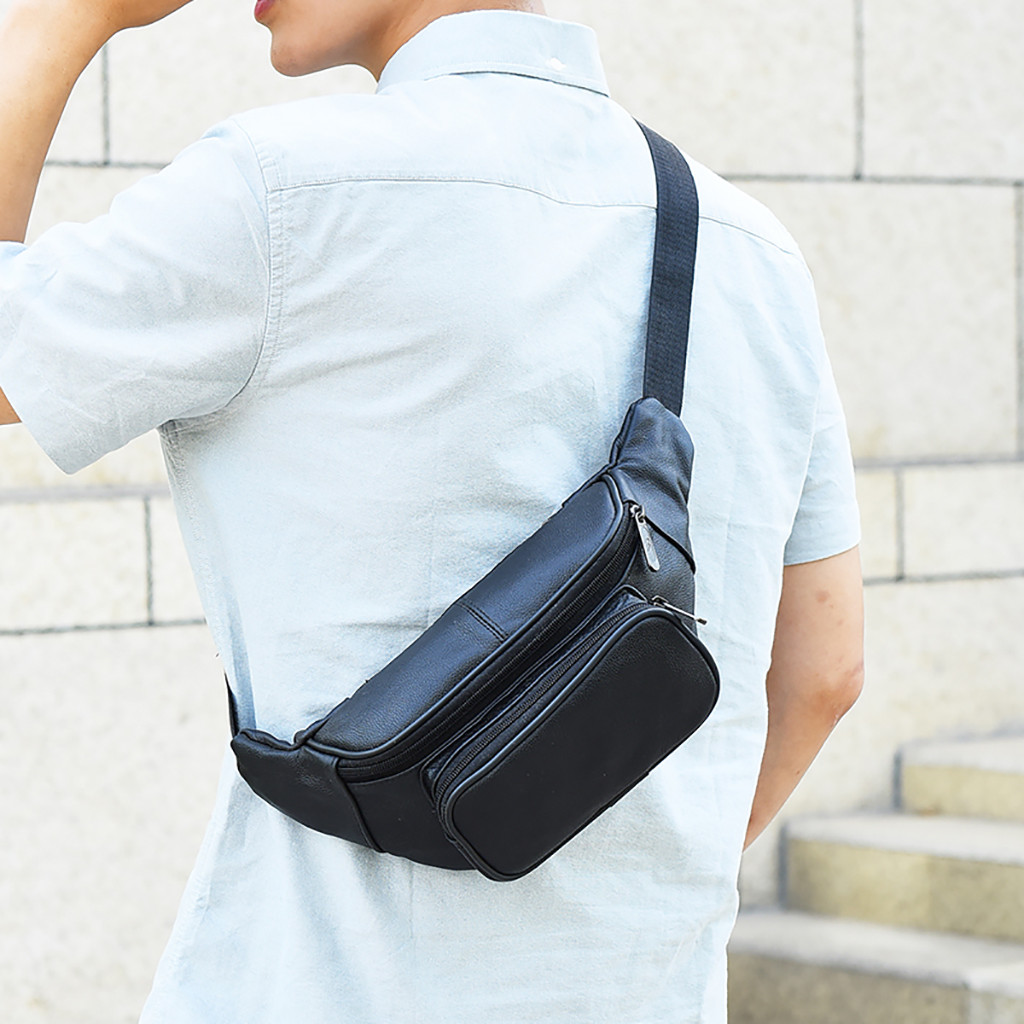men chest pack single shoulder bagsCasual Sports Bag solid Color Messenger Bag Pocket hot sales bag dropshipping(China)