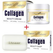 Disaar коллаген power Lifting Cream 80 г крем для лица+ коллаген мыло ручной работы очищающее средство для лица антивозрастной против морщин набор