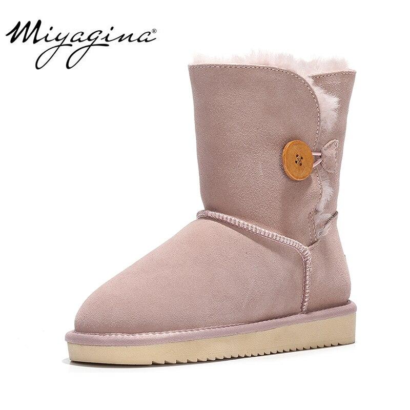Vente en gros/au détail de haute qualité femmes australie classique bottes de neige en cuir véritable fourrure naturelle bottes d'hiver marque femmes chaussures chaudes