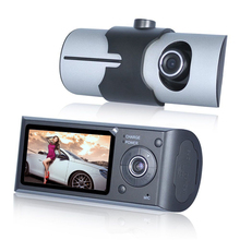 Cheap price Dual Camera Car DVR R300 with GPS and 3D G-Sensor 2.7″ TFT LCD X3000 Cam Video Camcorder Cycle Recording Digital Zoom