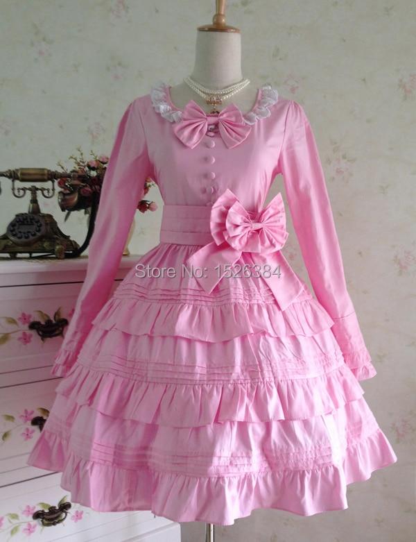 Lolita katoenen jurk met kant en strikjes Lolita - Carnavalskostuums - Foto 3