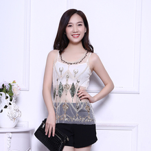 Free Shipping 2017 summer new wear off the end of heavy work nail beads diamond-shaped sequin tops